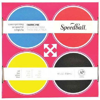 Fabric Screen Printing Ink 4-Color Set, Fabric Screen Printing Ink 4-Color Set