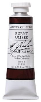 M. Graham Oil, Burnt Umber, 37ml