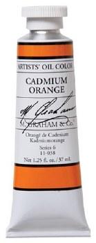 M. Graham Oil, Cadmium Orange, 37ml
