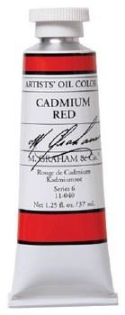 M. Graham Oil, Cadmium Red, 37ml