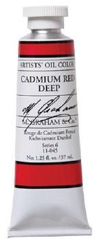 M. Graham Oil, Cadmium Red Deep, 37ml