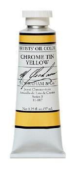 M. Graham Oil, Chrome Tin Yellow, 37ml