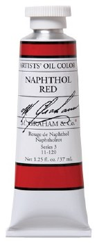 M. Graham Oil, Naphthol Red, 37ml