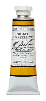 M. Graham Oil, Nickel Azo Yellow, 37ml