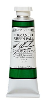 M. Graham Oil, Permanent Green Pale, 37ml