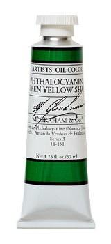 M. Graham Oil, Phthalo Green Yellow SH, 37ml