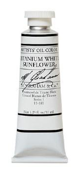 M. Graham Oil, Titanium White Sunflower, 37ml