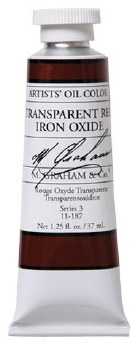 M. Graham Oil, Transparent Red Oxide, 37ml