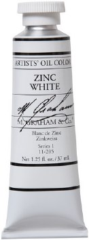M. Graham Oil, Zinc White, 37ml