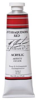 M. Graham Acrylic Anthraquinone Red 59ml