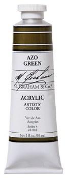 M. Graham Acrylic Azo Green 59ml