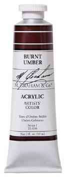 M. Graham Acrylic Burnt Umber 59ml