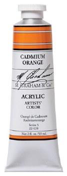 M. Graham Acrylic Cadmium Orange 59ml