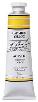 M. Graham Acrylic Cadmium Yellow 59ml