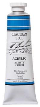 M. Graham Acrylic Cerulean Blue 59ml