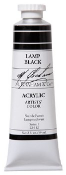 M. Graham Acrylic Lamp Black 59ml