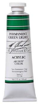 M. Graham Acrylic, 59ml, Permermanent Green Light