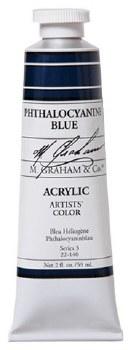 M. Graham Acrylic Phthalo Blue 59ml