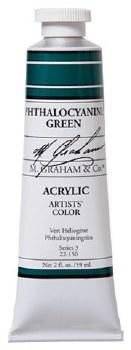 M. Graham Acrylic Phthalo Green 59ml