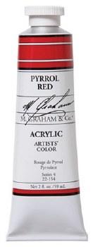 M. Graham Acrylic Pyrrol Red 59ml