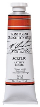 M. Graham Acrylic Transparent Orange Iron 59ml