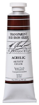 M. Graham Acrylic Transparent Red Iron 59ml