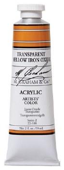 M. Graham Acrylic Transparent Yellow Iron Oxide 59ml