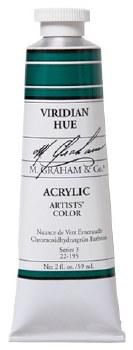 M. Graham Acrylic, 59ml, Viridian Hue