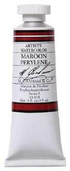 M. Graham Watercolor Maroon Perylene
