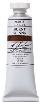 M. Graham Gouache Burnt Sienna