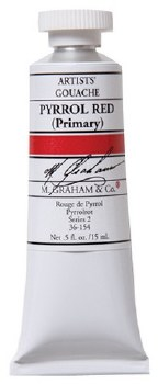 M. Graham Gouache Pyrrol Red