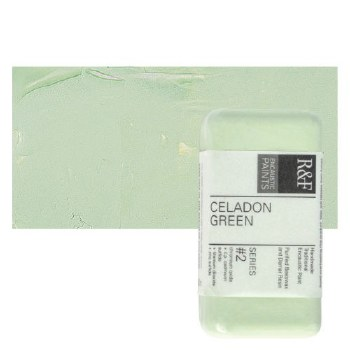 Encaustic Paint Cakes, 40ml Cakes, Celadon Green