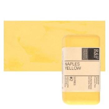 Encaustic Paint Cakes, 40ml Cakes, Naples Yellow