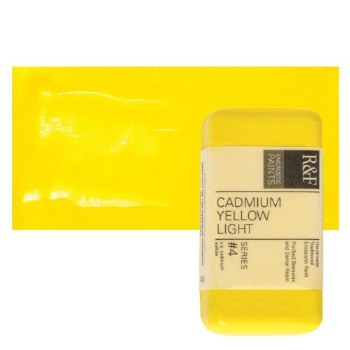 Encaustic Paint Cakes, 40ml Cakes, Cadmium Yellow Light