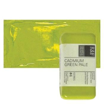 Encaustic Paint Cakes, 40ml Cakes, Cadmium Green Pale