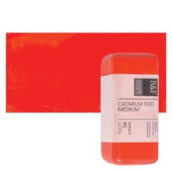 Encaustic Paint Cakes, 40ml Cakes, Cadmium Red Medium