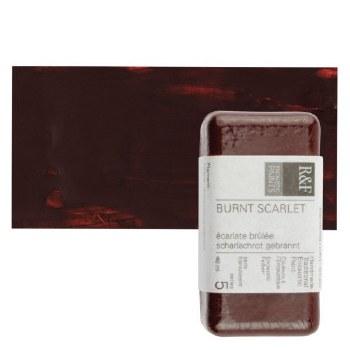 Encaustic Paint Cakes, 40ml Cakes, Burnt Scarlet