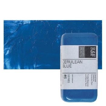 Encaustic Paint Cakes, 40ml Cakes, Cerulean Blue