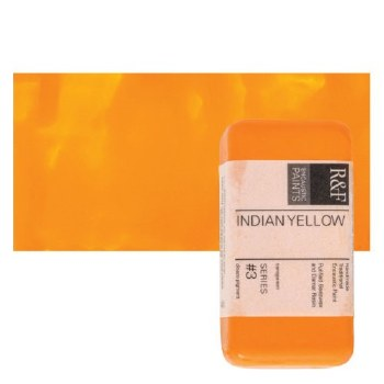 Encaustic Paint Cakes, 40ml Cakes, Indian Yellow
