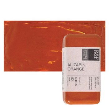 Encaustic Paint Cakes, 40ml Cakes, Alizarin Orange