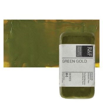 Encaustic Paint Cakes, 40ml Cakes, Green Gold
