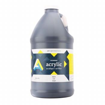 Economy Acrylics, Half Gallon, Black