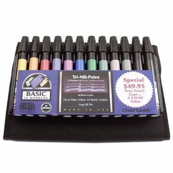 Ad Marker Travel Pack Sets, 12-Color Set