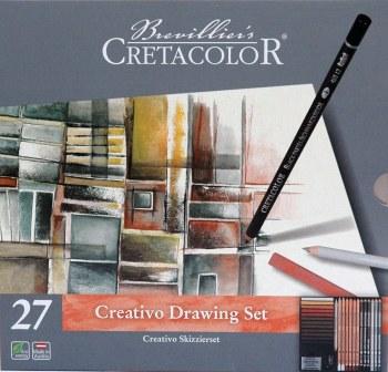 Creativo Tin Drawing 27-Piece Set, Creativo Tin Drawing 27-Piece Set