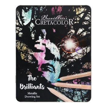 Cretacolor The Brilliants Metallic Drawing 12-Set
