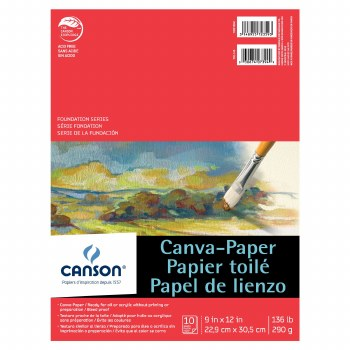 Canson Canva-Paper Pads, 9 in. x 12 in.