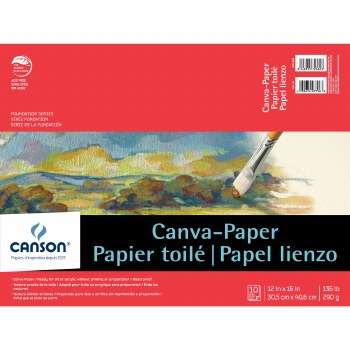 Canson Canva-Paper Pads, 12 in. x 16 in.