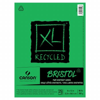 Canson XL Recycled Bristol Pads, 9 in. x 12 in. - 25 Shts./Pad