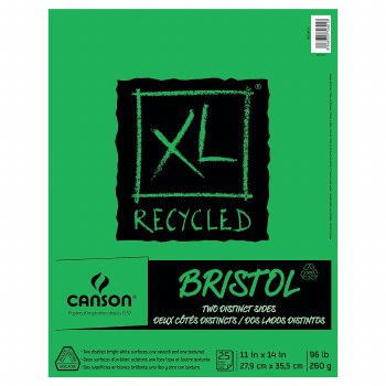 Canson XL Recycled Bristol Pads, 11 in. x 14 in. - 25 Shts./Pad