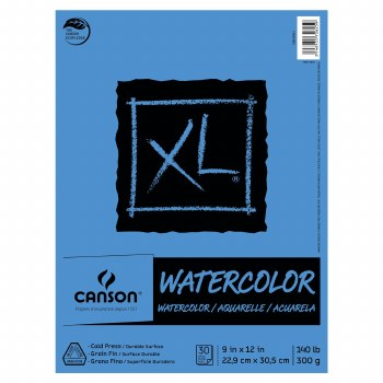 Canson XL Watercolor Pads, 9 in. x 12 in. - 30 Shts./Pad